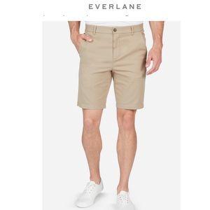 """Everlane Mens Khaki Midweight Chino 9"""" Slim Shorts"""